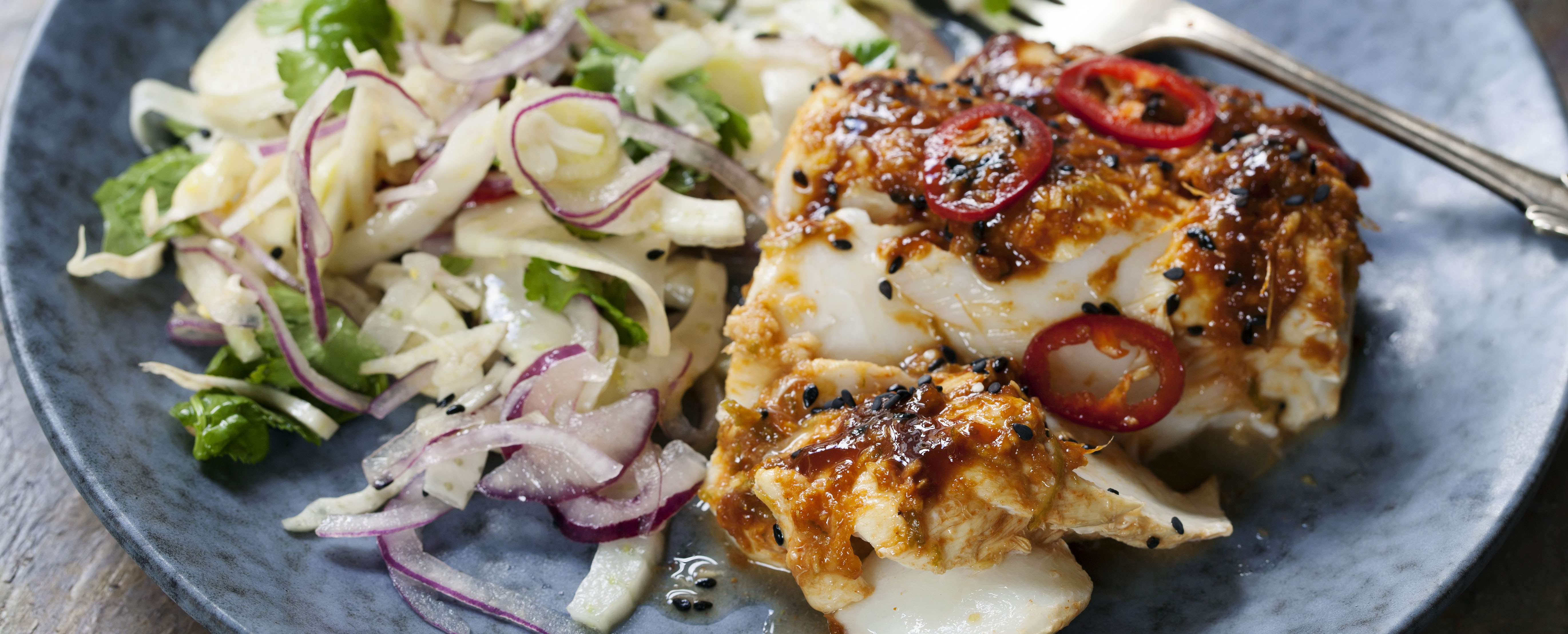 Ginger Poached Cod